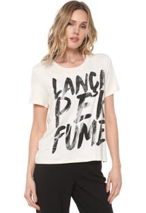 Camiseta Lança Perfume Lettering Bege