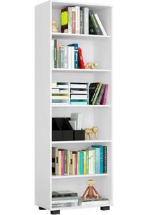 Estante Livreiro 6 Prateleiras Office Branco Mã³Veis Leã£O - Multicolorido - Dafiti