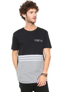 Camiseta Hang Loose Listrada Preta