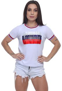 T-Shirt Tee Fashion Patche New York Branco