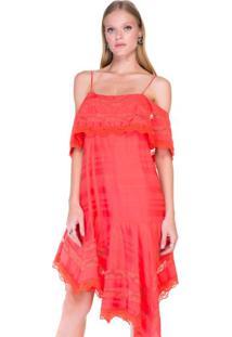 689ce30810fb8 Ir para a loja  -61% Vestido Assimétrico Detalhes Renda