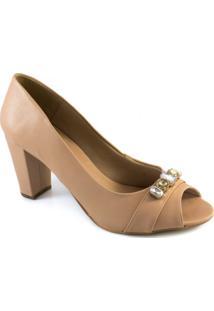 Peep Toe Pedrarias Número Grande Sapato Show 1080319