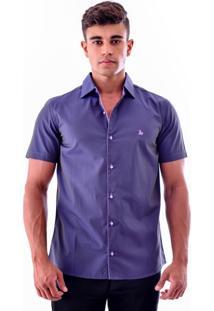 Camisa Amil Rost Slim Roxa
