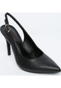 Sapato Chanel Em Couro - Preto - Salto: 11Cmjorge Bischoff