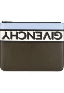 Givenchy Reverse Logo Clutch Bag - Preto