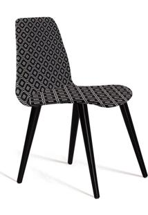 Cadeira De Jantar Eames Palito Preto E Cinza