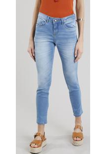 Calça Jeans Feminina Skinny Azul Claro