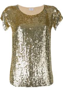 P.A.R.O.S.H. Blusa Com Paetê - Dourado