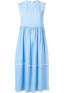 Marni Vestido Midi Sem Mangas - Azul