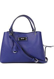 Bolsa Santa Lolla Handbag Placa Alça Fivela Chaveiro Feminina - Feminino-Azul