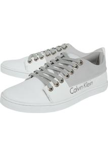 Tênis Calvin Klein Recorte Branco