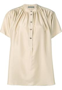 Alberta Ferretti Flared Button Blouse - Neutro