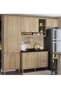 Cozinha Completa Com Tampo 9 Portas 5 Peças Sicília Multimóveis Argila