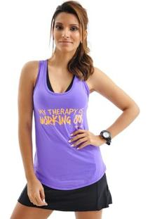 Regata Mama Latina Flexim Working Out - Feminino-Roxo