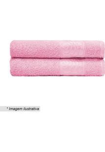 Toalha De Banho Donna- Rosa- 70X130Cm- Camesacamesa