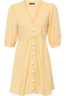 Vestido Listrado - Amarelo