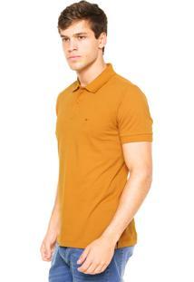 Camisa Polo Aramis Manga Curta Básica Caramelo