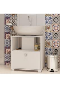 Armário De Banheiro Bbn 02-06 Branco Fosco - Brv Móveis