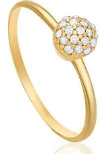 Anel Em Ouro Amarelo 18K Com Diamante - Florence 18