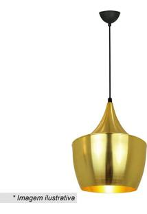 Pendente Artenisa- Dourado & Preto- 110X25Cm- Bipremier