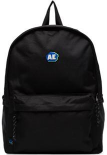 Ader Error Logo-Print Backpack - Preto