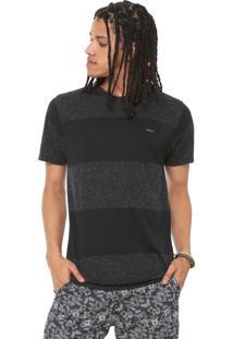 Camiseta Rvca Motivator Stripe Preta