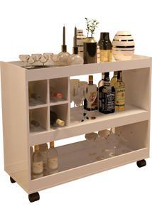Aparador Bar Jb 4050 Luxo Perola Móveis Jb Bechara Bege