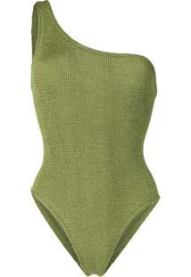 Hunza G Nancy Asymmetric Swimsuit - Verde
