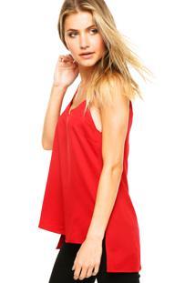 Regata Calvin Klein Jeans Slim Vermelha