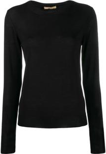 Nuur Long Sleeved Pullover - Preto