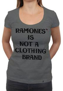 Ramones Is Not A Clothing Brand - Camiseta Clássica Premium Feminina