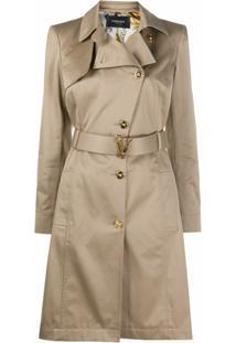 Versace Trench Coat Assimétrico - Neutro