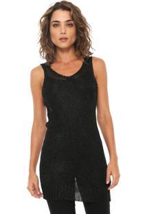 ... Maxi Regata Calvin Klein Jeans Tricot Metalizada Preta de830d01c54