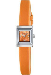 199cff1f73d ... Relógio Gucci Feminino Couro Laranja - Ya128532