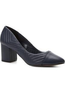 f0d8caae02 ... Scarpin Couro Shoestock Salto Médio Matelassê - Feminino