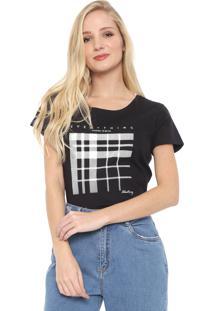 Camiseta Aleatory Estampada Preta