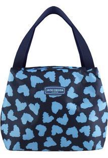Bolsa Tã©Rmica Animal Print- Azul Marinho & Azul Claro