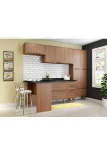 Cozinha Compacta Multimoveis Calabria 5454 Nogueira Se