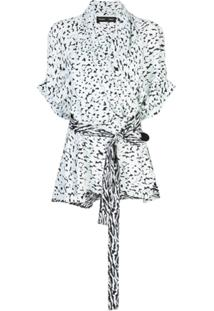 Proenza Schouler Blusa Mangas Curtas Com Transpasse - Branco