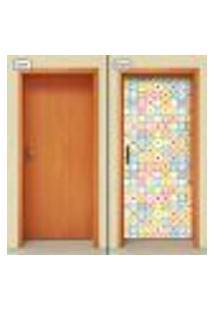 Adesivo Decorativo De Porta - Abstrato - Infantil - 1360Cnpt