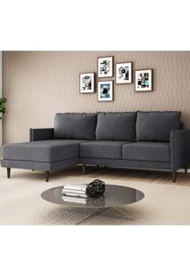 Sofá Sharp 2 Lugares E Chaise Esquerdo – Legacy Sofas - Grafite