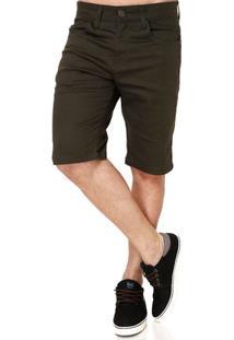 Bermuda Jeans Masculina Verde