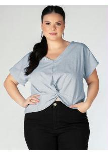 Blusa Plus Size Azul