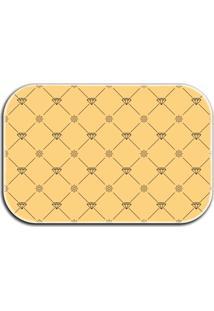 Tapete Decorativo Lar Doce Lar Diamantes 40Cm X 60Cm Amarelo - Amarelo - Dafiti