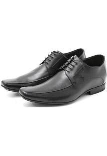 Sapato Up 2660 Clássico Social Em Couro De Amarrar - Masculino-Preto