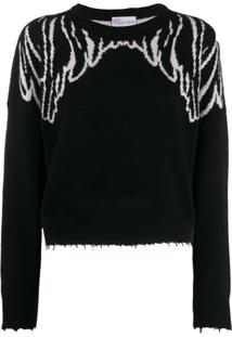 Red Valentino Suéter Spread Your Wings - Preto