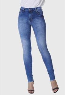Calça Jeans Hno Jeans Skinny Recorte Barra Feminina - Feminino