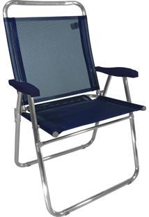 Cadeira De Praia King Zaka Em Alumínio Até 140 Kg Marinho