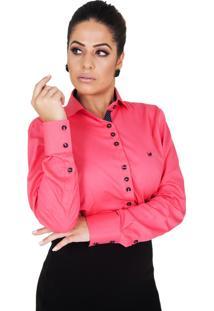 Camisa Lupim Rosa Botões Diversos