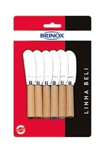 Conjunto De Espátulas Para Manteiga E Patê Brinox Com Linha Beli Ref: 2051/317